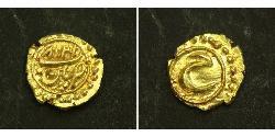 1 Fanam Індія Золото