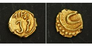 1 Fanam Индия Золото