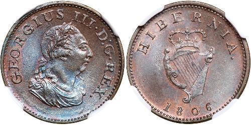 1 Farthing 爱尔兰共和国 銅