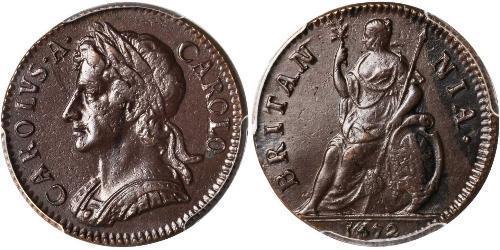 1 Farthing 英格兰王国 銅 查理二世 (英格兰) (1630 - 1685)