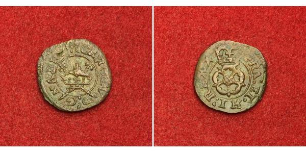1 Farthing 英格兰王国 青铜 查理一世 (英格蘭) (1600 - 1649)