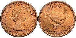 1 Farthing Reino Unido (1922-) Bronce Isabel II (1926-)