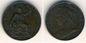1 Farthing Reino Unido de Gran Bretaña e Irlanda (1801-1922) Bronce Victoria (1819 - 1901)