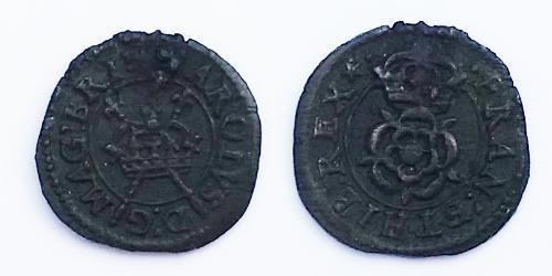 1 Farthing Reino de Inglaterra (927-1649,1660-1707) Bronce Carlos I (1600-1649)