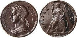 1 Farthing Kingdom of England (927-1649,1660-1707) Copper Charles II (1630-1685)