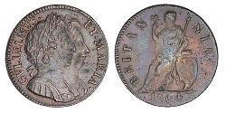 1 Farthing Kingdom of England (927-1649,1660-1707) Copper William III (1650-1702)