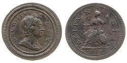 1 Farthing Kingdom of Great Britain (1707-1801) Copper George I (1660-1727)