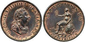 1 Farthing Kingdom of Great Britain (1707-1801) Copper George III (1738-1820)