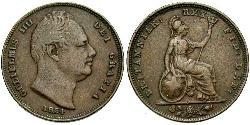 1 Farthing United Kingdom Copper William IV (1765-1837)