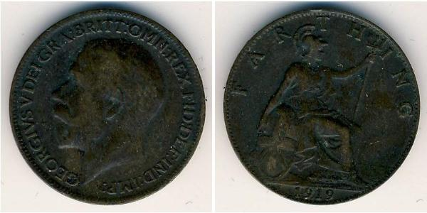 1 Farthing United Kingdom of Great Britain and Ireland (1801-1922) Copper George V of the United Kingdom (1865-1936)