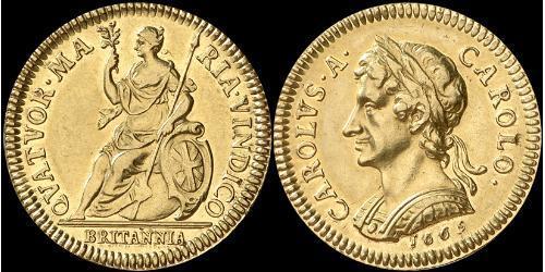 1 Farthing Königreich England (927-1649,1660-1707) Gold Karl II (1630-1685)