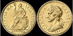 1 Farthing Kingdom of England (927-1649,1660-1707) Gold Charles II (1630-1685)