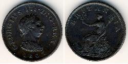 1 Farthing Vereinigtes Königreich Kupfer Georg III (1738-1820)