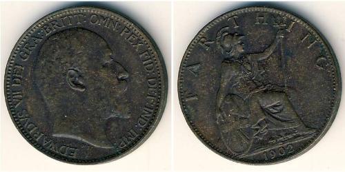 1 Farthing Vereinigtes Königreich Kupfer Eduard VII (1841-1910)