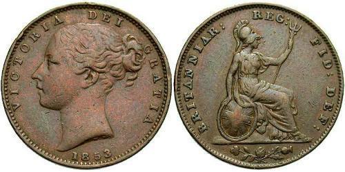 1 Farthing Regno Unito di Gran Bretagna e Irlanda (1801-1922) Rame Vittoria (1819 - 1901)