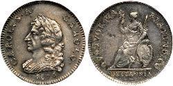 1 Farthing Kingdom of England (927-1649,1660-1707) Silver Charles II (1630-1685)