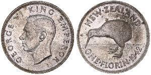 1 Florin 新西兰 銀 乔治六世 (1895-1952)