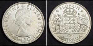 1 Florin 澳大利亚 銀 伊丽莎白二世 (1926-)
