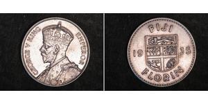 1 Florin Fiji 銀 乔治五世  (1865-1936)