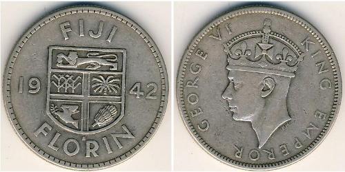 1 Florin Fiji 銀 乔治六世 (1895-1952)