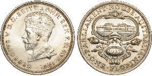 1 Florin Ôstralie (1788 - 1939) Argent George V (1865-1936)