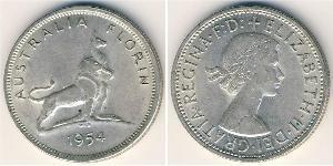 1 Florin Australie (1939 - ) Argent Elizabeth II (1926-)