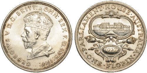 1 Florin Australia (1788 - 1939) Argento Giorgio V (1865-1936)