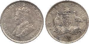 1 Florin Australia (1939 - ) Argento Giorgio V (1865-1936)
