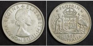 1 Florin Australia (1939 - ) Argento Elisabetta II (1926-)