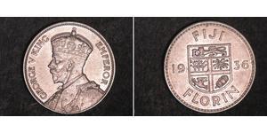1 Florin Figi Argento Giorgio V (1865-1936)