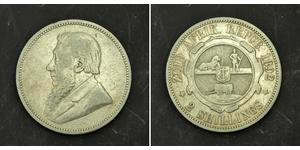 1 Florin Sudafrica Argento Paul Kruger (1825 - 1904)