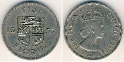 1 Florin Fiji Copper/Nickel Elizabeth II (1926-)