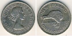 1 Florin New Zealand Copper/Nickel Elizabeth II (1926-)