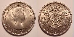 1 Florin United Kingdom (1922-) Copper/Nickel Elizabeth II (1926-)