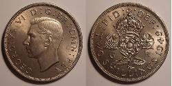 1 Florin United Kingdom (1922-) Copper/Nickel George VI (1895-1952)