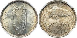1 Florin Irlande (1922 - ) Cuivre/Nickel