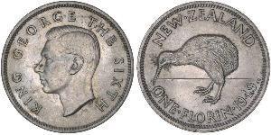 1 Florin Nouvelle-Zélande Cuivre/Nickel George VI (1895-1952)