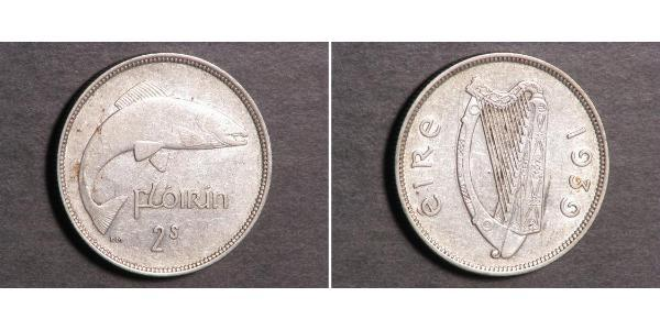1 Florin Irland (1922 - ) Kupfer/Nickel