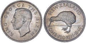 1 Florin Neuseeland Kupfer/Nickel Georg VI (1895-1952)