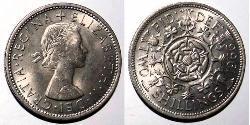 1 Florin Vereinigtes Königreich (1922-) Kupfer/Nickel Elizabeth II (1926-)