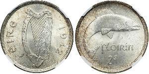 1 Florin Irlanda (1922 - ) Níquel/Cobre