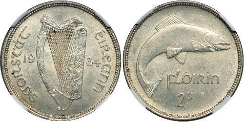 1 Florin Irlanda (1922 - ) Plata