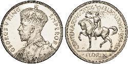 1 Florin Australien (1939 - ) Silber George V (1865-1936)