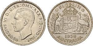 1 Florin Australien (1939 - ) Silber Georg VI (1895-1952)