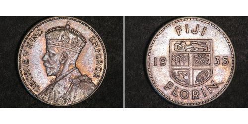1 Florin Fidschi Silber George V (1865-1936)