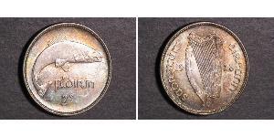 1 Florin Irland (1922 - ) Silber