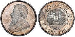 1 Florin Südafrika Silber Paul Kruger (1825 - 1904)