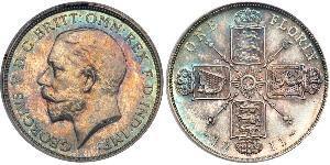 1 Florin Vereinigtes Königreich von Großbritannien und Irland (1801-1922) Silber George V (1865-1936)