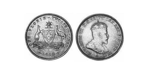 1 Florin Australia (1788 - 1939) Silver Edward VII (1841-1910)
