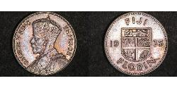 1 Florin Fiji Silver George V of the United Kingdom (1865-1936)